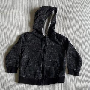 H&M black heathered zip up hoodie SZ2-4years